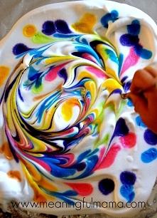 DIY Marbled Paper from Shaving Cream, czyli jak zrobić rysunki na papierze używając pianki do golenia