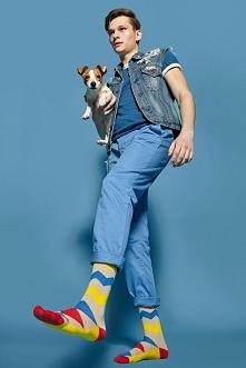 Kolorowe męskie socksy