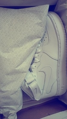 My new baby ❤ Nike air force one ❤ #nikeAirForce #nike #air #force #one #my #new #baby