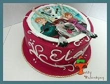 Malowany i wycinany tort dl...