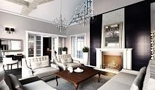 Projekt pokoju dziennego w stylu rezydencjonalnym -Tissu. Pomieszczenie zdobi...