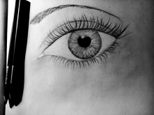 I ja narysowałem sobie oko.