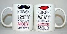 Kubki na dzień mamy i taty. Tata, który nigdy się nie myli i mama która ma zawszę rację - nadruko.pl