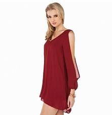 elegancki, seksowny szyfon jeszcze nieustalona mini sukienka góry