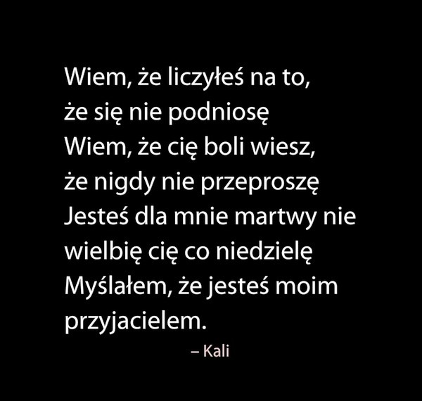 Kali Na Rap Cytaty 3 Zszywkapl
