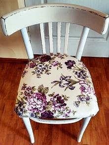 krzesło za 5zł + chęci + farba i nowe obicie