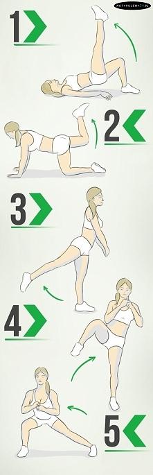 Kilka ćwiczeń na smukłe nogi i jędrne pośladki