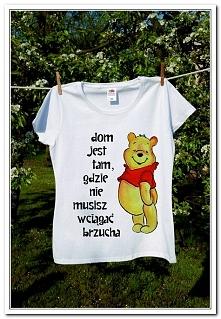 Koszulka Kubusiowa - farby do tkanin :)