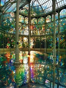 5. Kimsooja's Room of Rainbows in Crystal Palace Buen Retiro Park, Madrid Spain