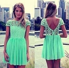 miętowa sukieneczka.