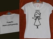 t-shirt koszulka prezent dla pielęgniarki mogę wykonać na zamówienie poduszki...