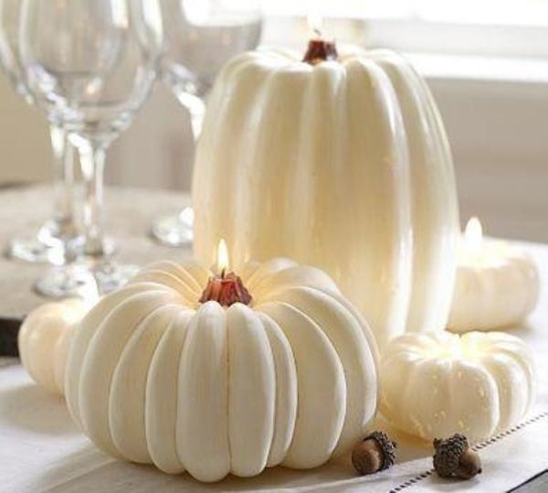 Dynia jako świecznik- ozdoba stołów weselnych