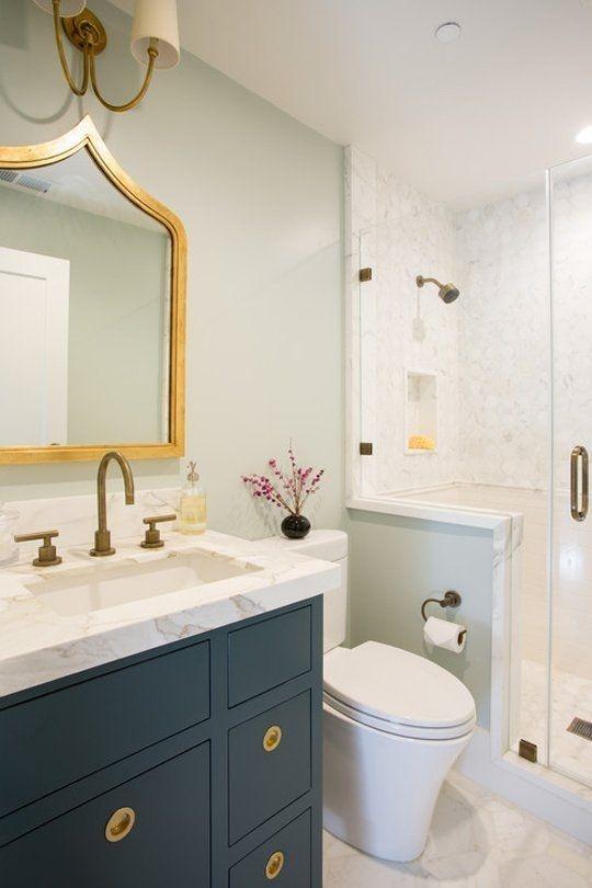 łazienka Klasyczna Ale W Bardzo Modnych Kolorach Granat