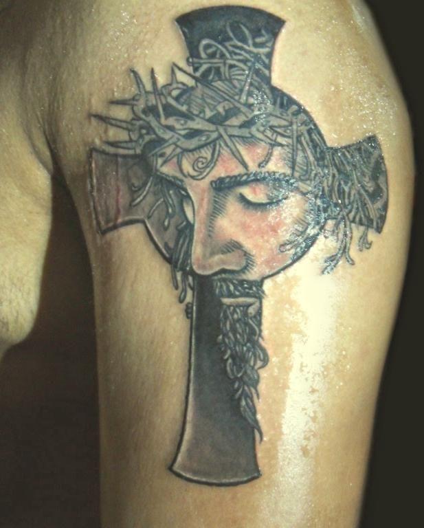 Krzyż Z Jezusem Na Tatuaże Zszywkapl