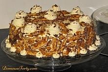 Pyszny tort Snickers!Orzechowy biszkopt+budyniowy krem+masa krówkowa- a w ele...