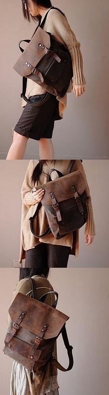 ♥♥ torebkolandia.com.pl ♥♥ Plecak 'VINTAGE 2' płótno-skóra naturaln...