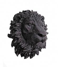 Głowa lwa czarna na ścianę