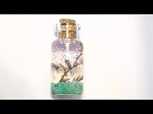 DIY Tiny Lavender Bottle Charm/Pendant (with Grains of Rice)