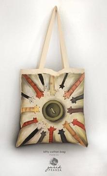 Ręcznie malowana torba dla kocich maniaczek ;) rozmiary torby: 390x410mm gram...