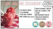 Sorbet arbuzowo-truskawkowy. Smak lata zamknięty w lodowych kryształkach.