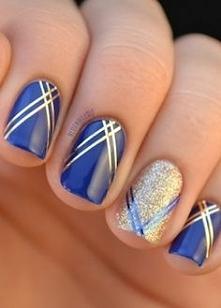 -niebiesko złote-
