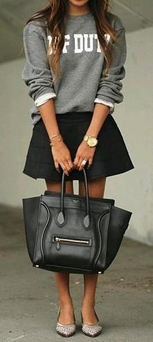 dresowa bluza + spodniczka ...