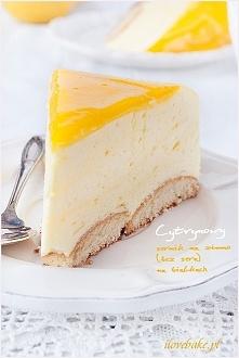 Cytrynowy sernik na zimno (bez sera) na białkach – przepis ilovebake.pl