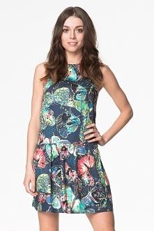 Mini sukienka na lato z mot...