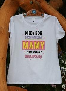 T-shirt ręcznie malowany prezent dla Mamy na Dzień Matki mogę wykonać na zamó...