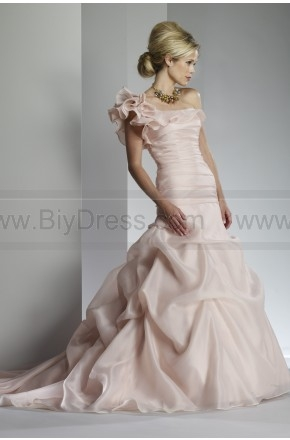 Price crash,One Shoulder Ruffles Ruched Pick up Wedding Gown For Sale