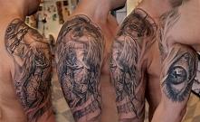 anioł tatuaż