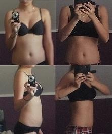 Mój efekt po miesiącu ćwiczeń. Zdrowa dieta i przeplatane ćwiczenia cardio z ...