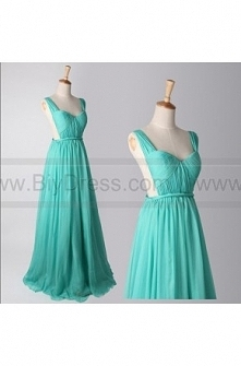 A line Sweetheart Turquoise Backless Prom Dresses 2014/Wedding Party Dresses/...