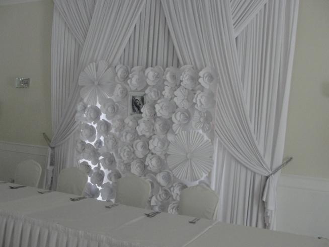 Nasza Weekendowa Realizacja ściana Z Papierowych Kwiatów Na Moje