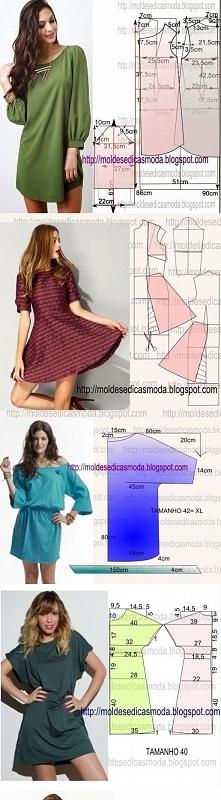 sukienki wzory