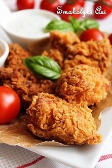 """Kurczak ala KFC  """"Kurczak przygotowany w ten sposób ma niesamowicie chru..."""