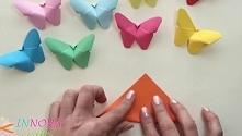 Papierowe motylki, których wykonanie zajmie Ci tylko kilka minut!