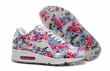 Nike Air Max 90 Floral Print Womens Jade Wild Rose www freerunsplus com