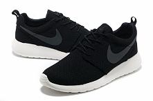 Cheap Nike Roshe Run Men Black Grey www freerunsplus com