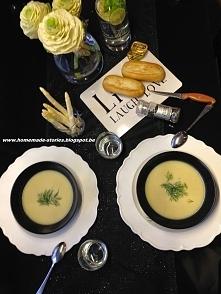 Moja zupa z białych szparagów! czyli czarno białe zestawienie :)  Więcej na b...