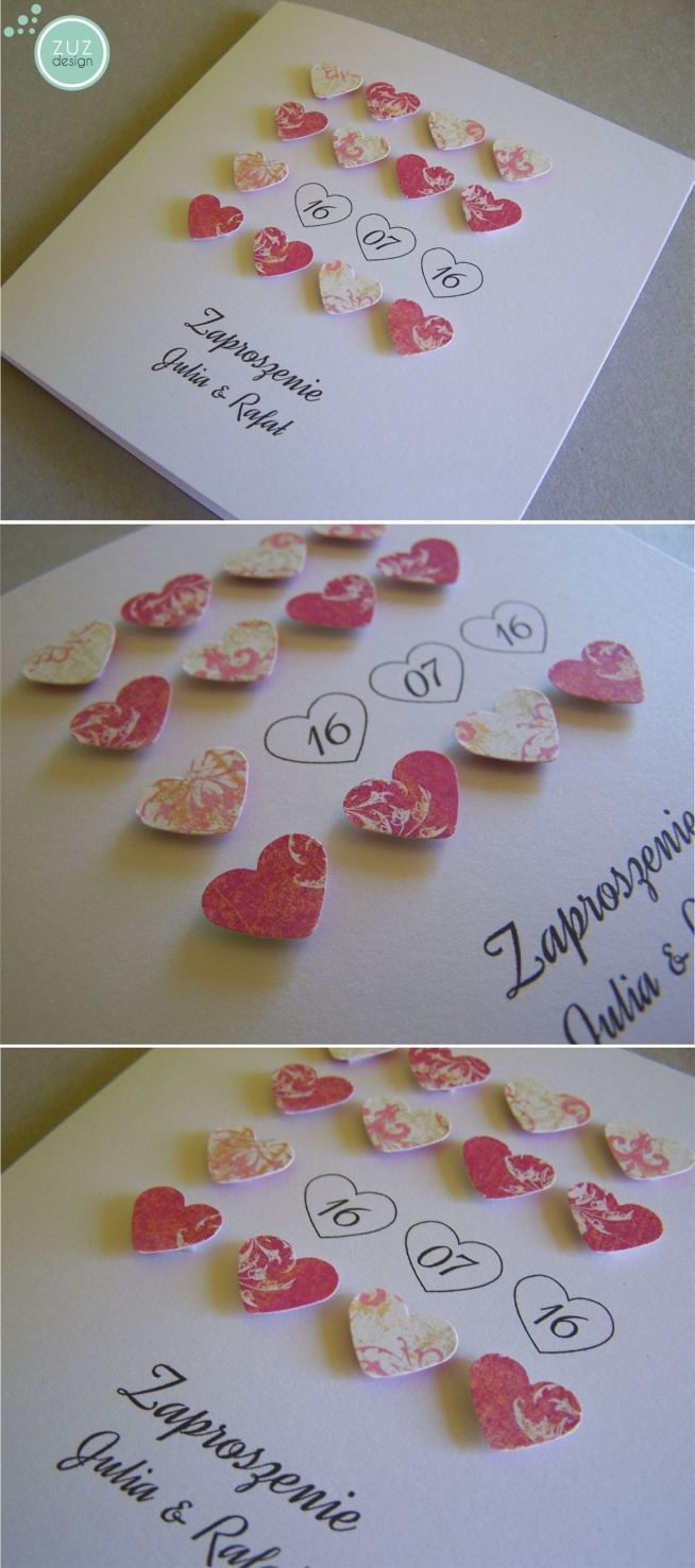 Zaproszenia ślubne Zuzdesignfacebook Na ślub Zszywkapl