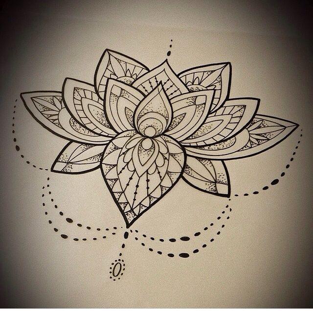 Kwiat Lotosu Na Tattoo Zszywkapl