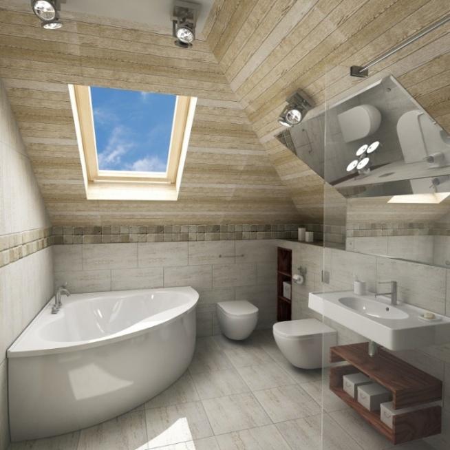 łazienka Na Poddaszu Na Pomysł Na Mieszkanie Zszywkapl