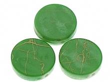 Koraliki Akrylowe Wyszukane Moneta Zielony