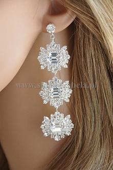 Kolczyki z oryginalnymi kryształami, które pięknie błyszczą idealne dla Panny...