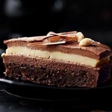 Torcik z mlecznej czekolady z kremem waniliowym