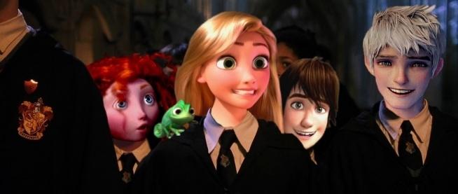 Wielka Czwórka w Hogwartcie.