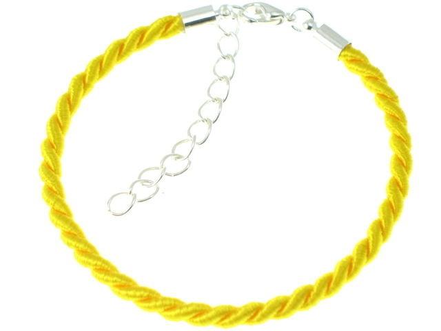 Baza Bransolety Pleciona Żółty