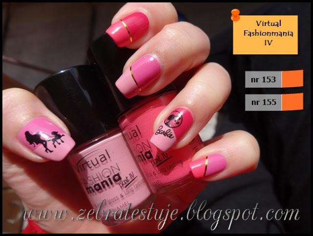 Barbie na paznokciach :]