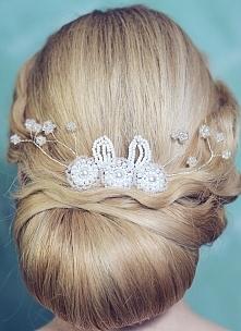 Stroik dla Panny Młodej do fryzury ślubnej